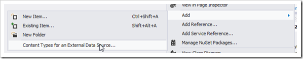 SharePoint 2013 bcs content type