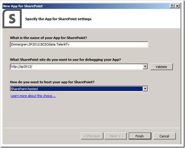 SharePoint 2013 bcs odata app