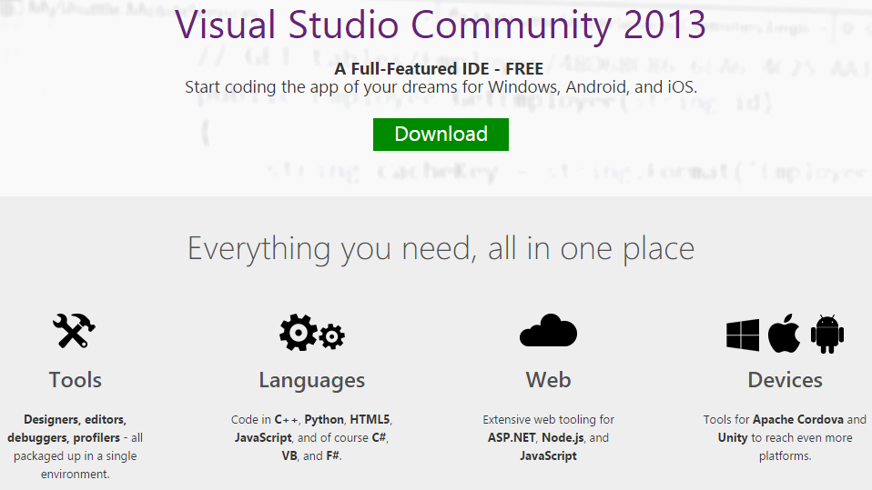 download visual studio 2013 with key