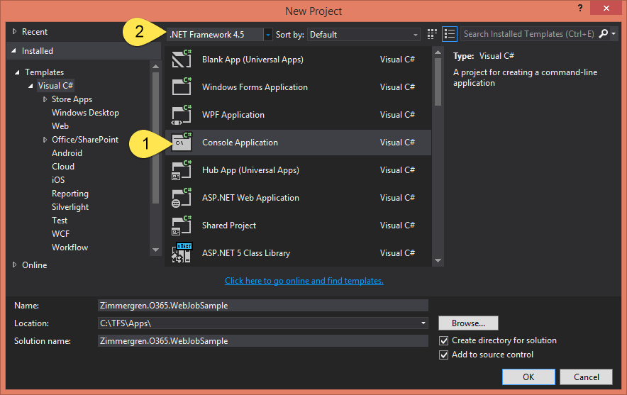 Getting Started with building Azure WebJobs (