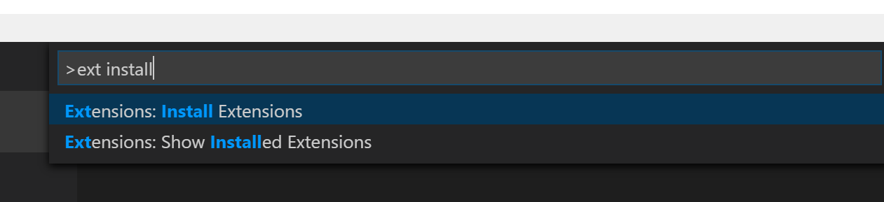 Install Extension in VS Code