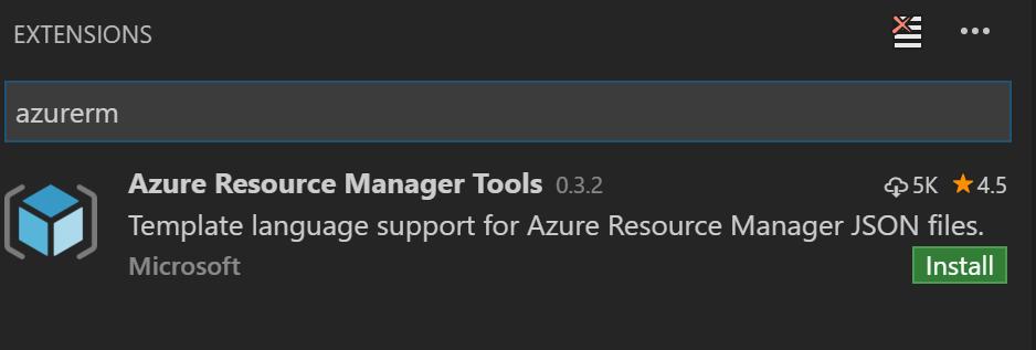 Azure RM extension