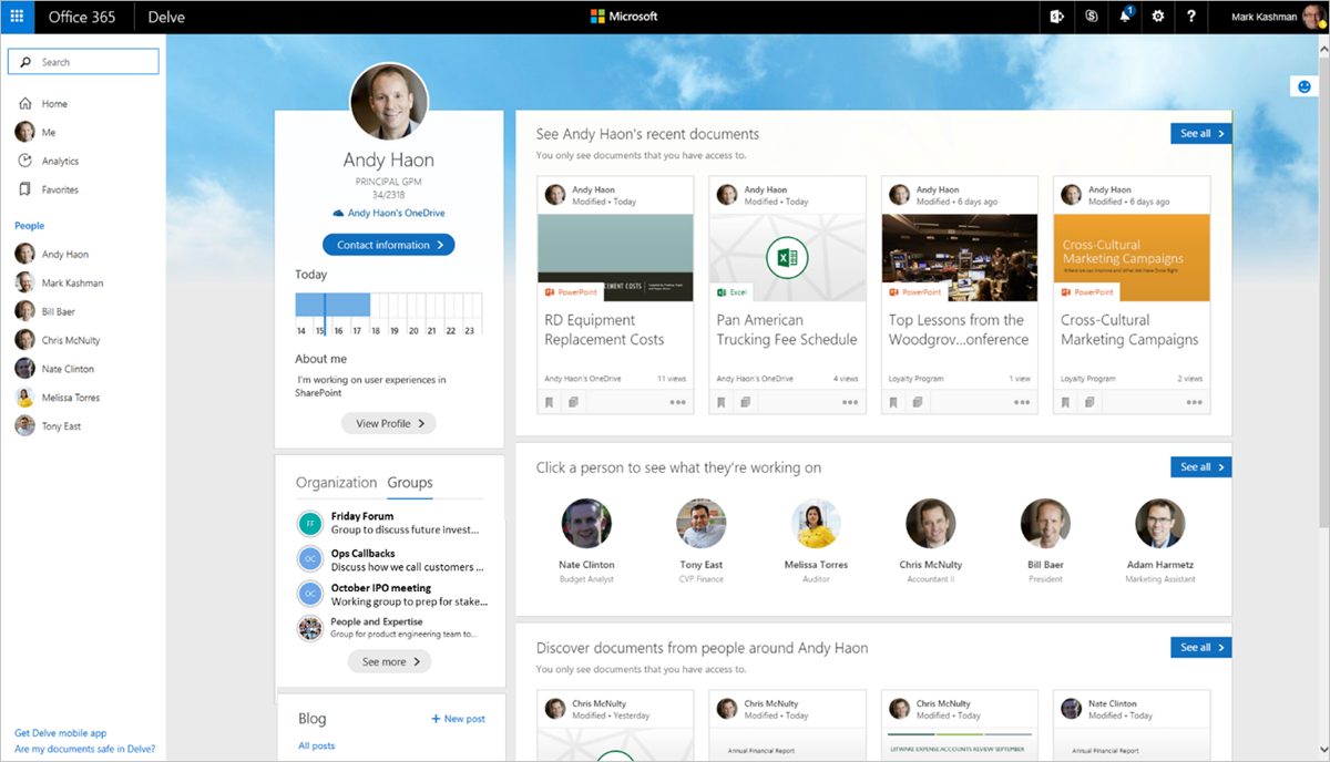 Office 365 Updated People Experience