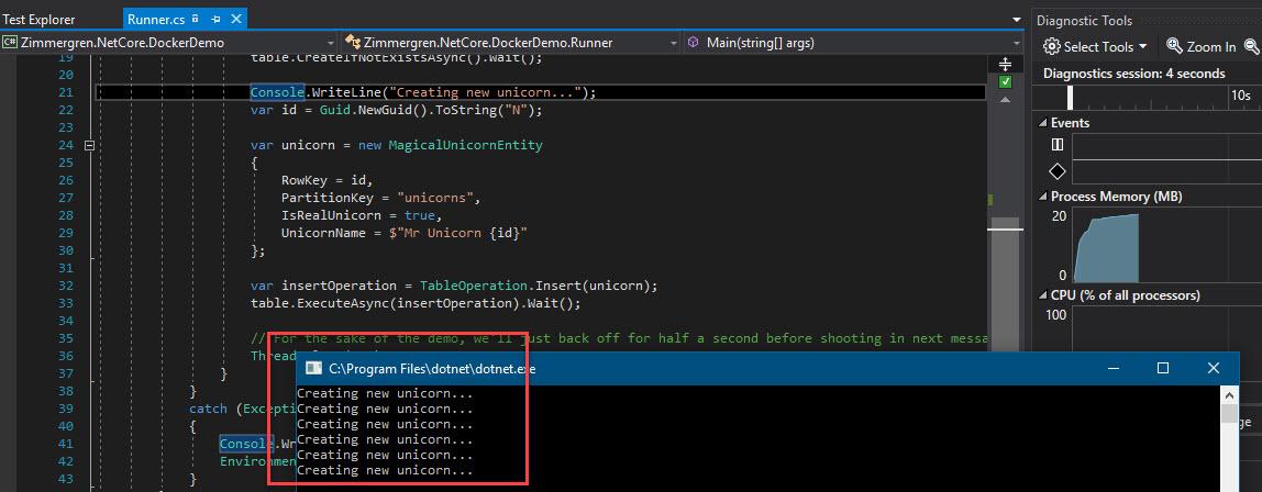 Demo application screenshot