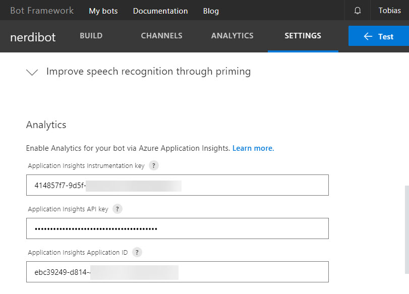 Ensure Application insights are configured