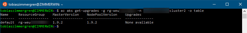 Azure CLI and AKS in Bash
