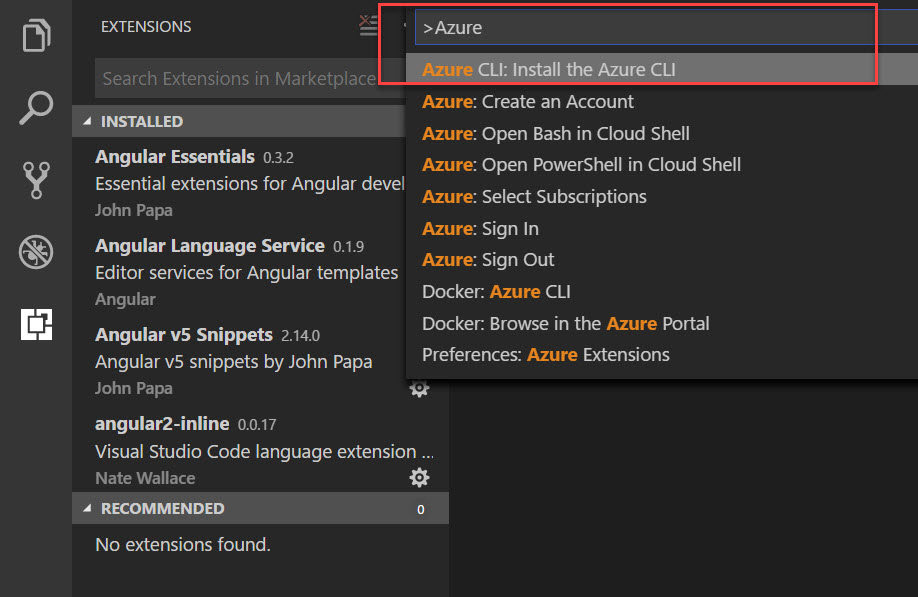 Run the AzureCLI Install Command