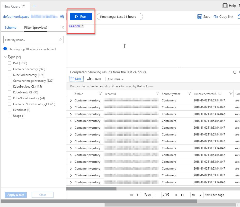 Azure Monitor and Log Analytics for Azure Kubernetes