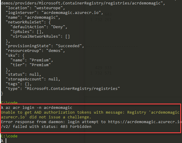 Protecting your Azure Container Registry by denying all requests except from allowed IP addresses