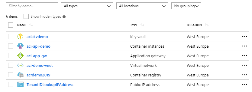 Building a .NET Core API, host it in Azure Container Instances from a private Container Registry and enable HTTPS using Application Gateway
