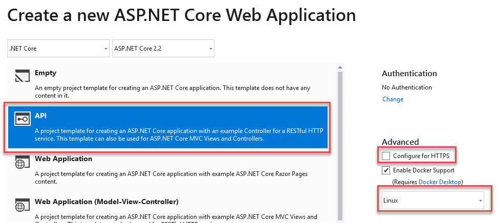NET Core API in ACI, secured with HTTPS using Application Gateway