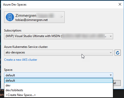 Developing using Azure Dev Spaces with Azure Kubernetes Services