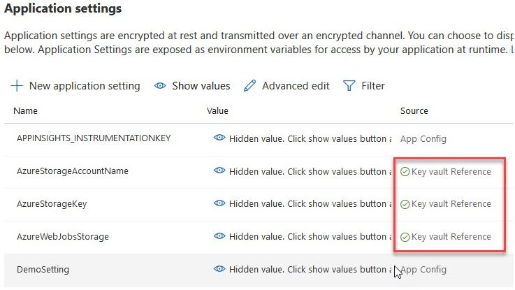 Azure Functions and secure Configuration with built-in integration to Azure Key Vault