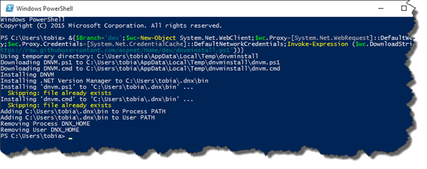 Creating an ASP.NET 5 site with Visual Studio Code - Part 1: Ensure pre-requisites