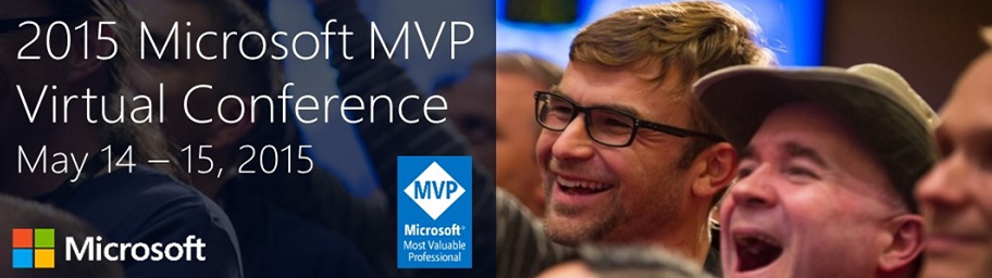 Microsoft MVP Virtual Conference in May 2015–A free online conference