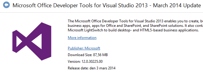 Visual Studio 2013 March 2014 Update has been released