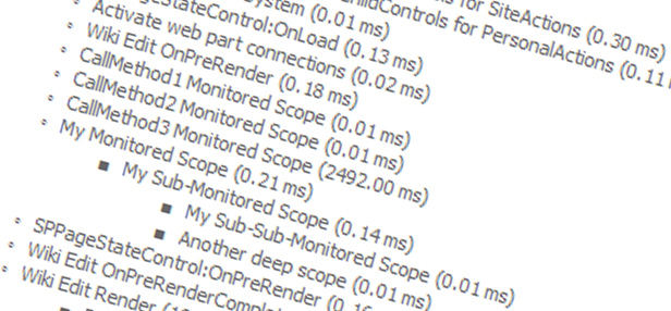 SP 2010: Developing for performance Part 2 - SPMonitoredScope
