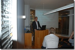 MVP Tobias Zimmergren moderating the meeting