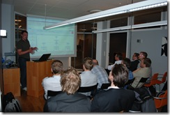 Mikael Bolin presenting on Nintex
