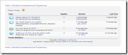 TOZIT SharePoint Discussion Forum solution for WSS 3 0 and