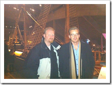 Joel Oleson and Tobias Zimmergren at the Vasa Museum