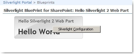 Hello Silverlight 2 Web Part Proof Of Concept