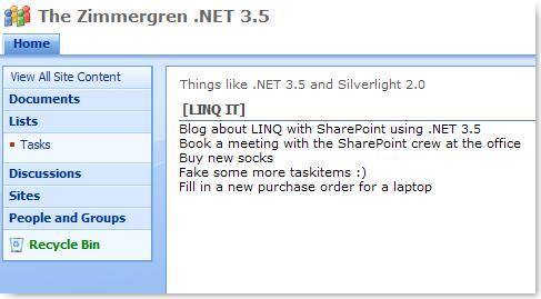 How to: LINQ with SharePoint -  NET 3 5 Framework with